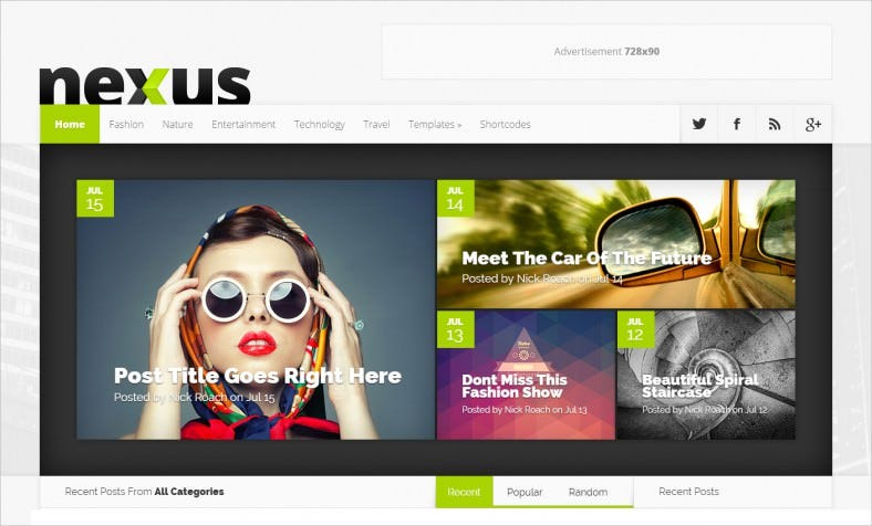 nexus wordpress theme 788x476