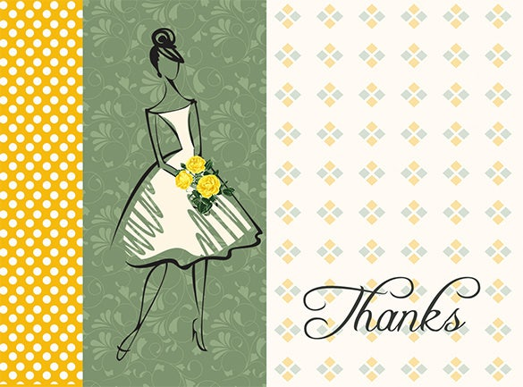 nice fashion thank you card