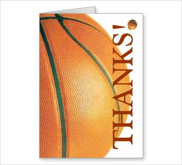 nice sports thank you cards