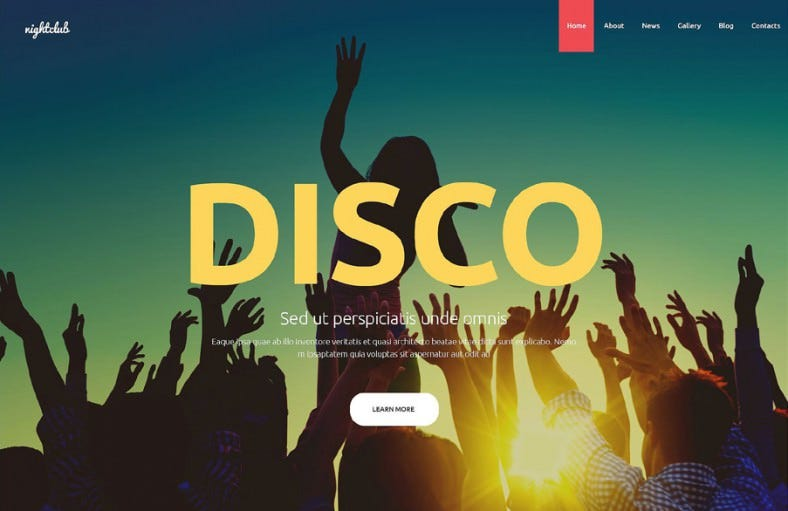 nightclub joomla template 788x511