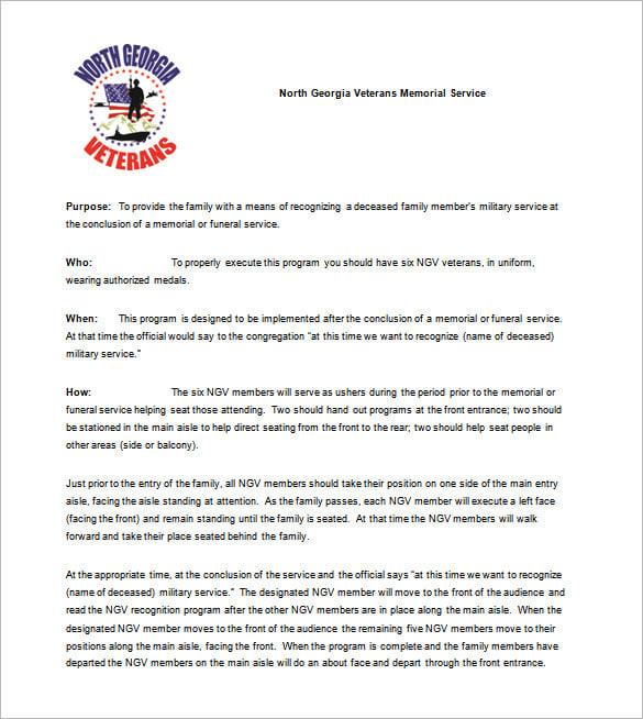 north georgia veterans memorial service writing