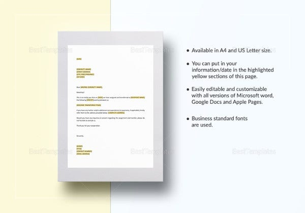 notice-of-assignment-template