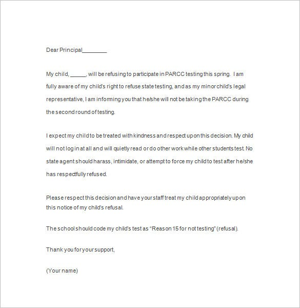 notice of refusal letter pdf format