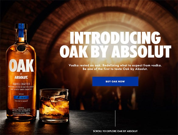 oak by absolut parallax scrolling template
