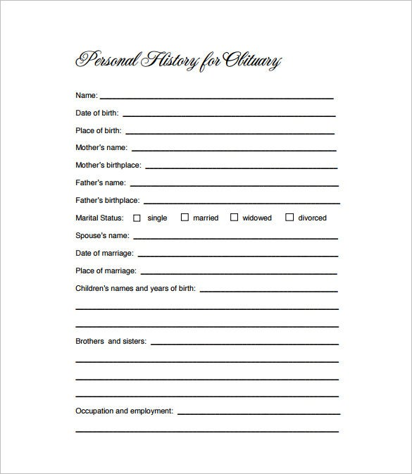 obituary outline template.html