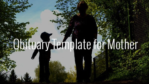 obituary template for mother