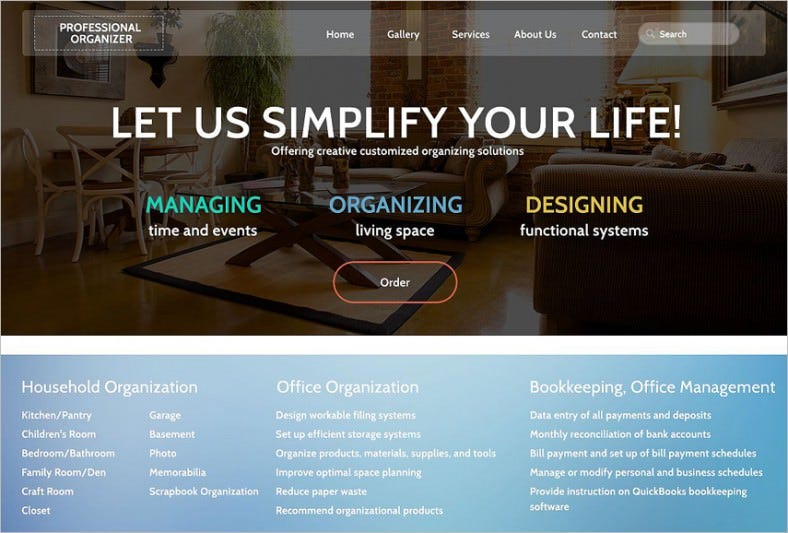 Office supplies website template 7 business services opencart.