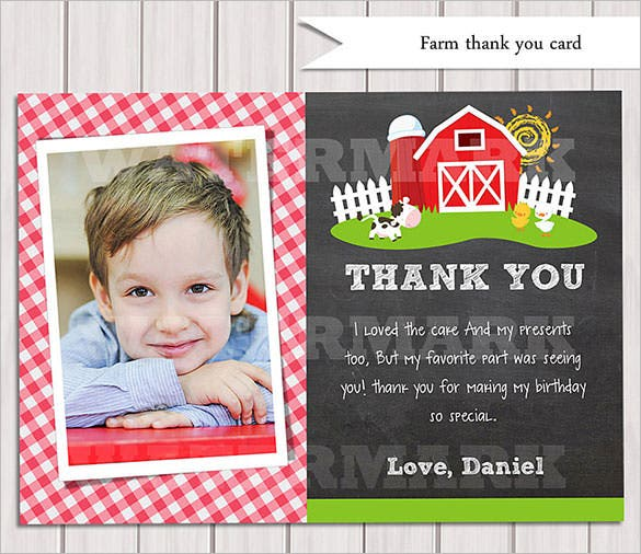 old farm photo thank youcard