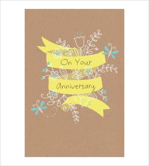 on your anniversary sample anniversary card printable