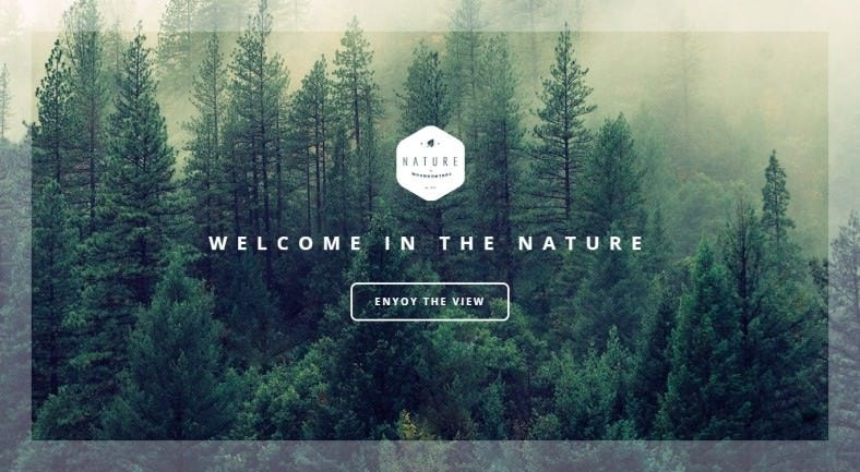 one page environmental html template 788x433