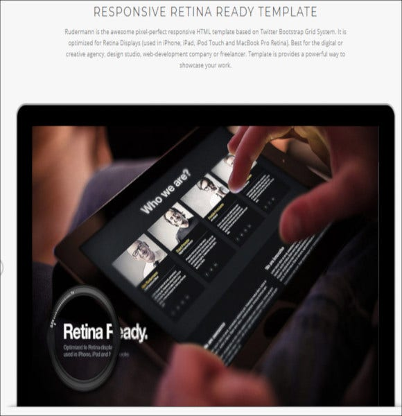one page parallax retina wordpress theme