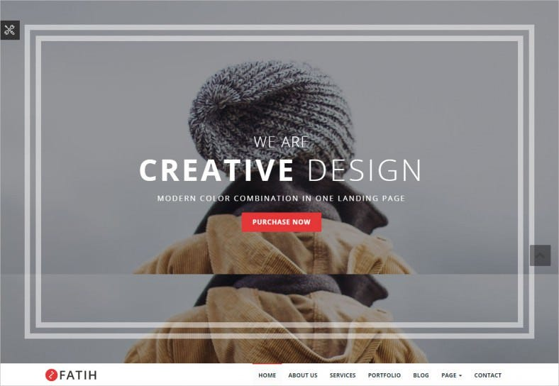 One Page Scrolling Creative Landing Page Template