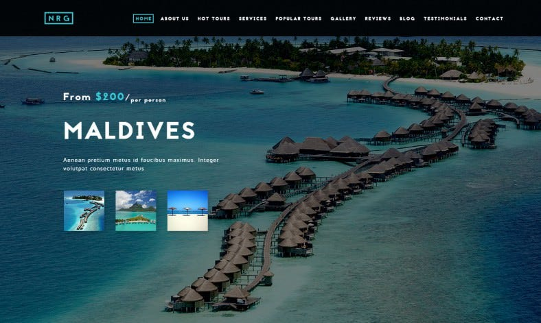 One-Page Travel & Tour Agency Theme
