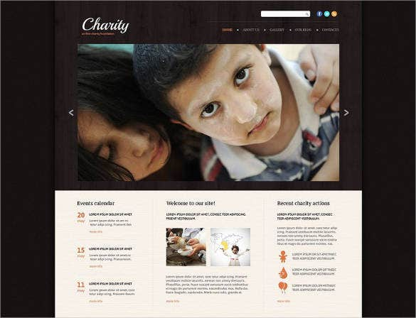 Online Charity Foundation Website Template 69