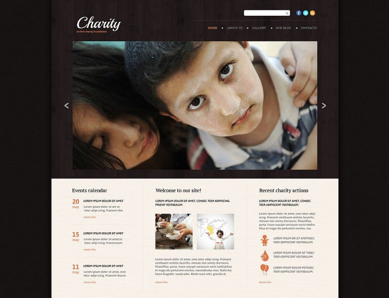 Online Charity Foundation Website Template