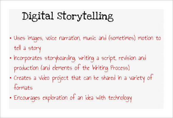 online common core digital storytelling example