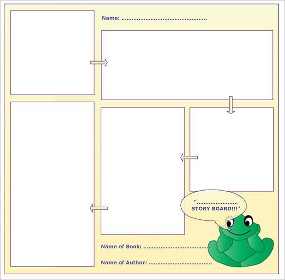 online editable blank story board template sample