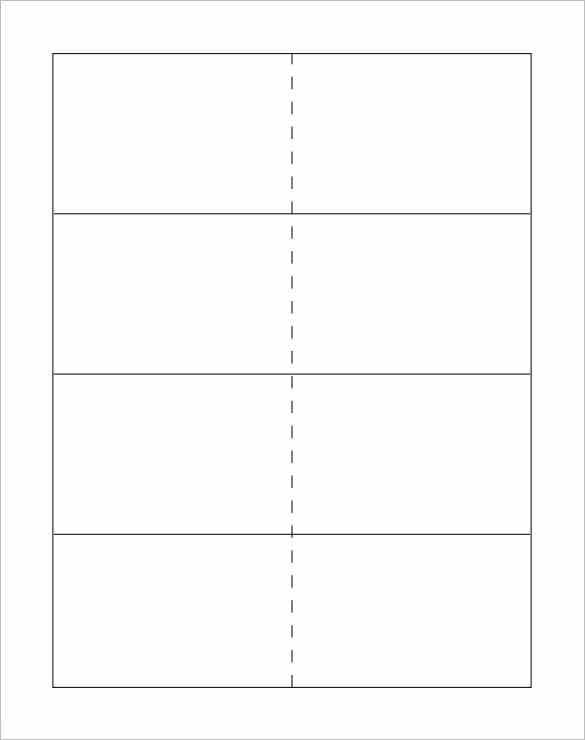 note card template word