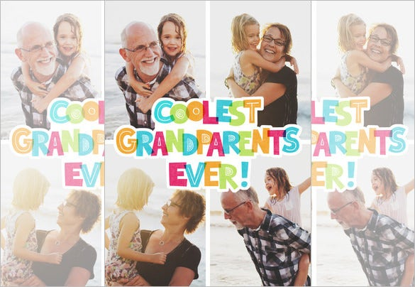 online editable grandparents day photo card