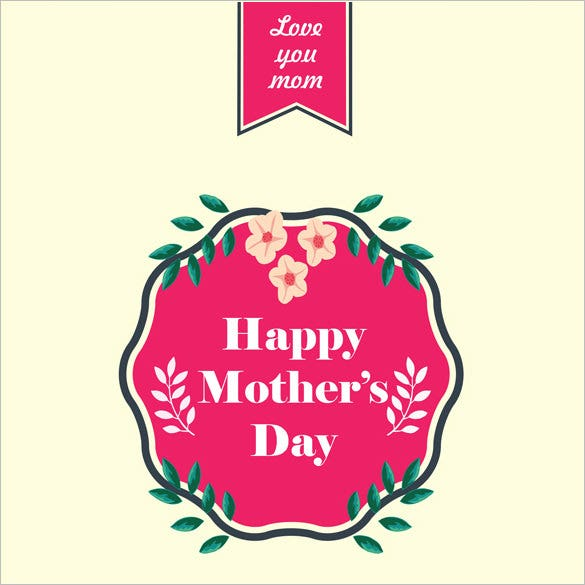 online editable mothers day card template