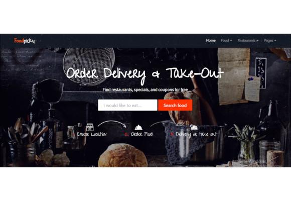 online food order restaurant wordpress website template