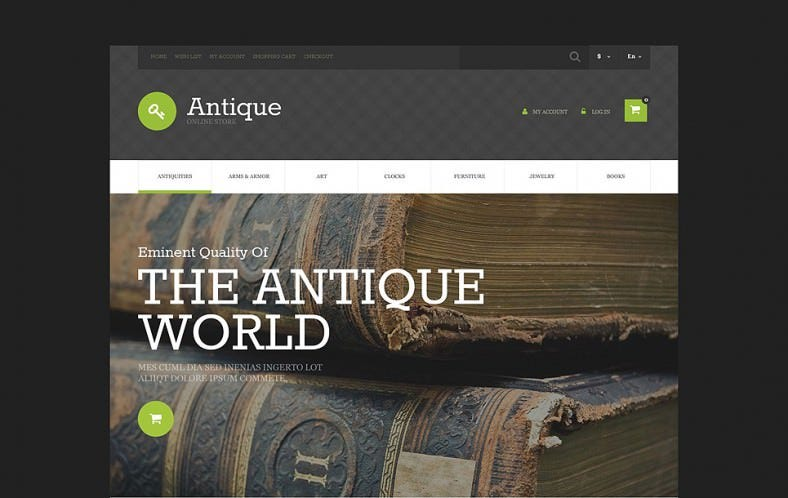 OnlineAntique Store OsCommerce Template