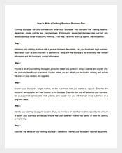 cloth business plan