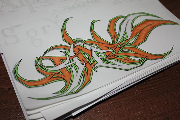 18  best graffiti style letter images