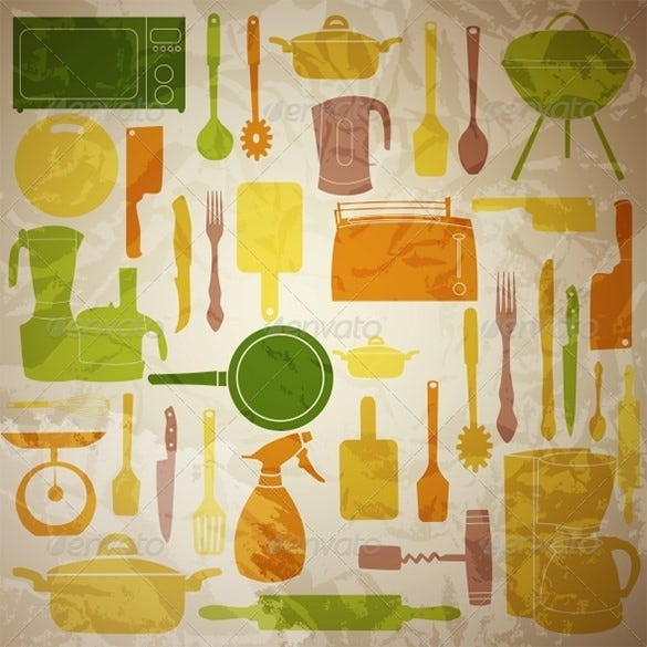 outstanding vector kitchen tools illustrator