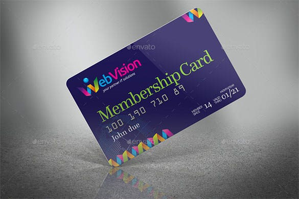 PSD Design Membership Card Template  Membership Card Design