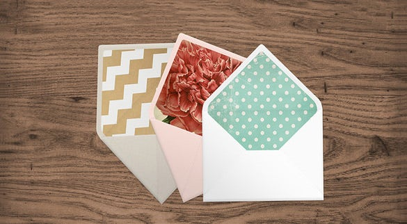 psd envelope liner template download