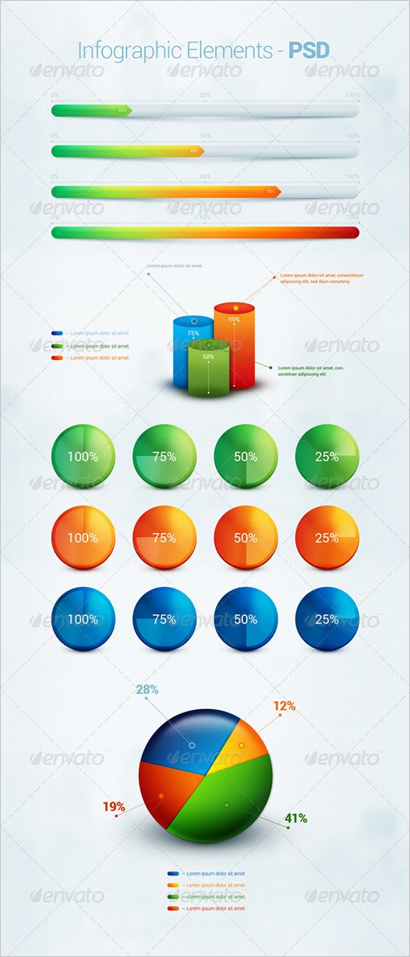 psd infographic elements premium download
