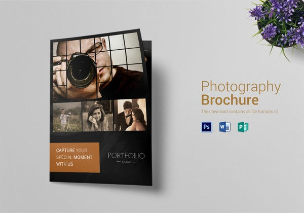 psd photography brochure bi fold template