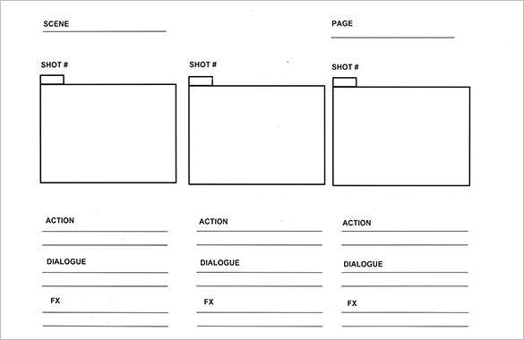 panel comic storyboard template free example