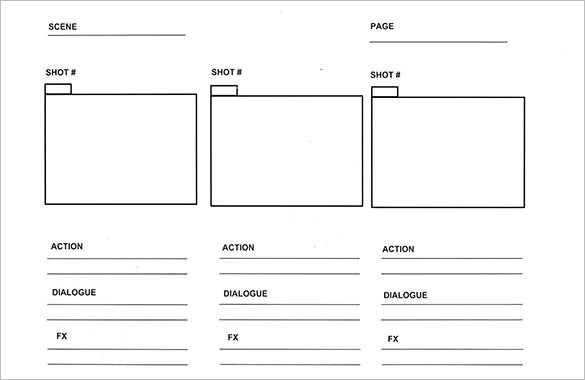 panel comic strip storyboard template with example