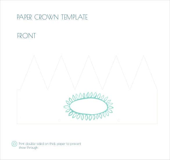 paper-crown-front-template