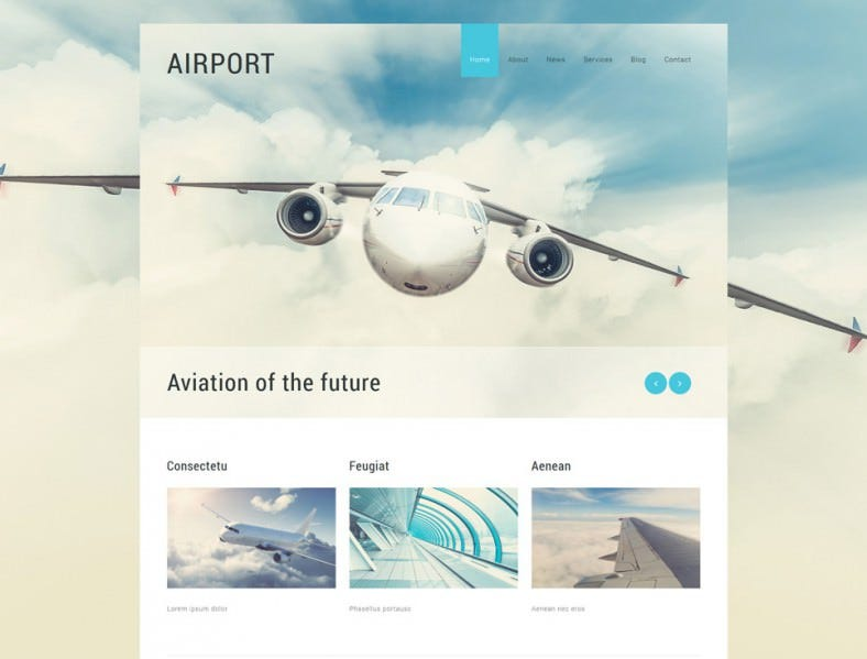 Parallax Affect Joomla Template for Private Airline