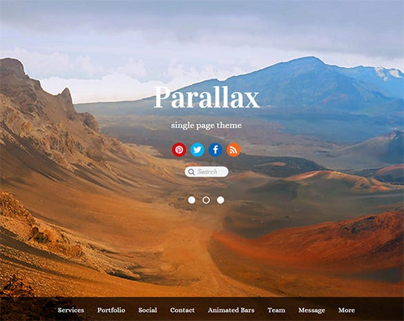 parallax demo wordpress theme