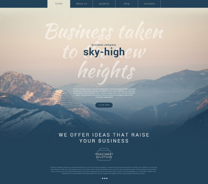 parallax effect business company wp template 788x697
