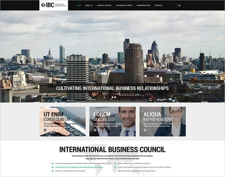 Parallax Effect Business Council Website Template
