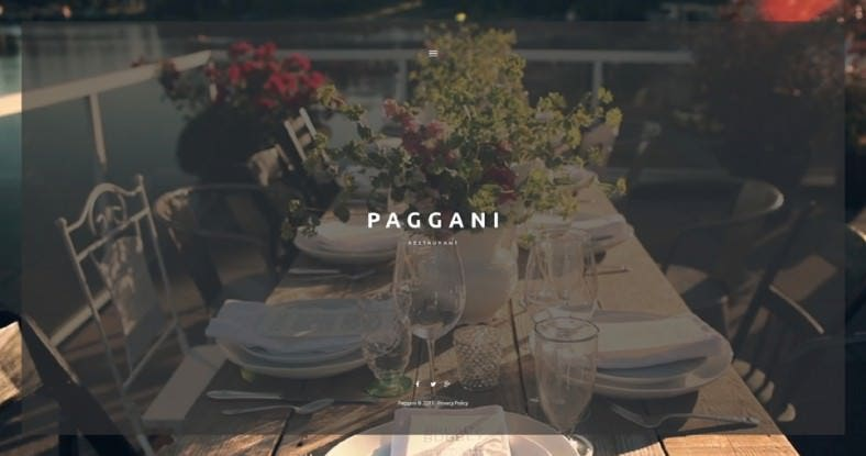 Parallax Effect Cafe and Restaurant WordPress Theme