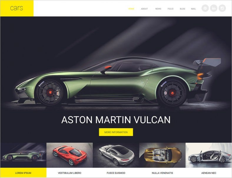 Parallax Effect Cars Club Joomla Template