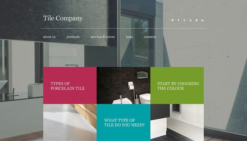 Parallax Effect Interior Design jQuery Website Templates