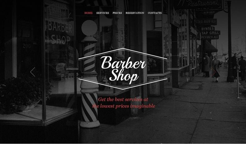 Parallax Effect Website Template for Barber Shop