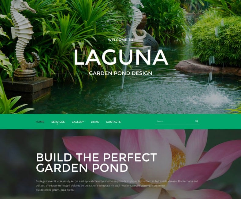 Parallax Effect Website Template for Exterior Design