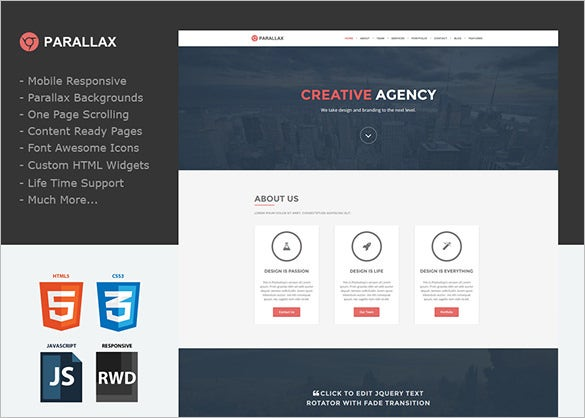 weebly site templates - 11 responsive mobile parallax scrolling website templates