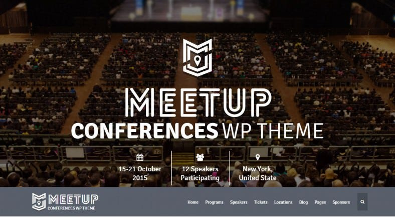 Parallax WordPress Themes for Conference & Education