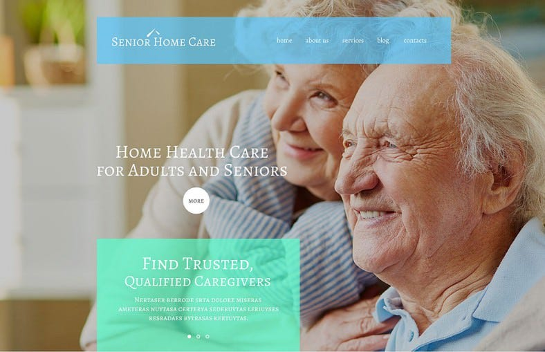 Parallax Wp Theme for Senior Home Health Care