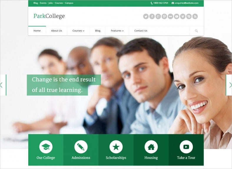 parkcollege education responsive html template 788x575