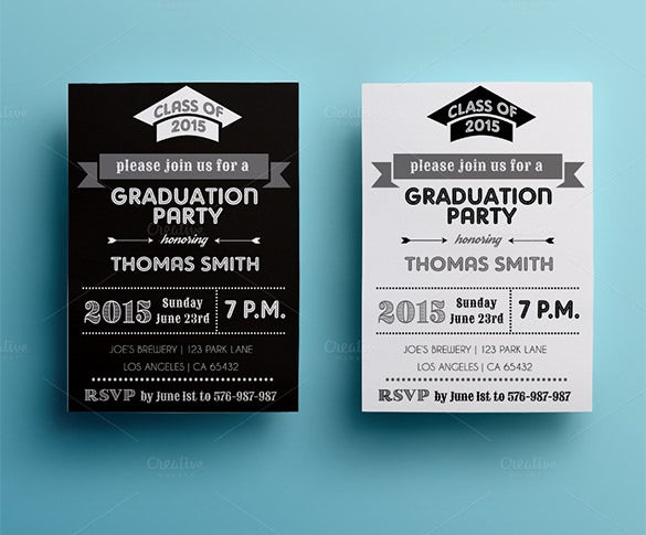 party invitation graduation card template